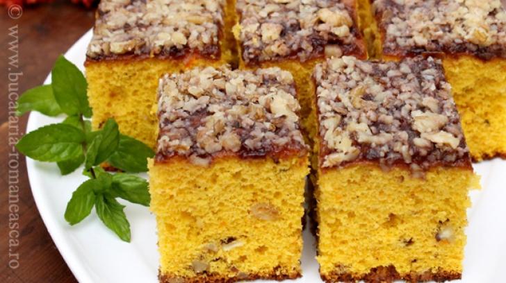 Prăjitură cu dovleac copt şi nucă