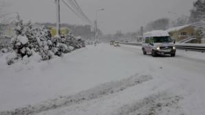 Trafic în condiţii de iarnă în Harghita, după ce a nins