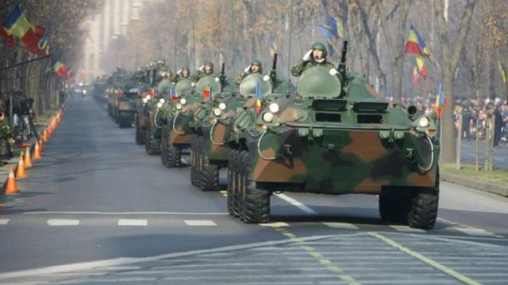 Militari români, la parada de 1 Decembrie