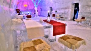 Hotelul de Gheaţă de la Bâlea Lac, inclus în topul celor mai spectaculoase locuri de cazare sculptate în gheaţă