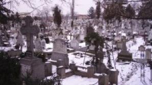 Zeci de cruci dintr-un cimitir au fost vandalizate