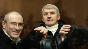 Platon Lebedev (dreapta), alături de Mihail Hodorkovski