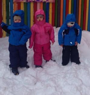 Tripleţii Nicoletei Luciu nu apreciază zăpadă