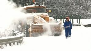 Autostrada A3 îngropată în zăpadă