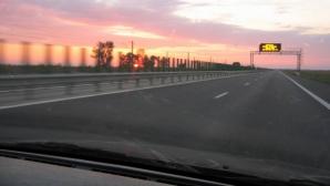 Şofer surprins pe Autostrada Soarelui cu 223 DE KILOMETRI LA ORĂ