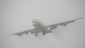 Cinci curse aeriene sunt afectate de ceaţă, la Cluj