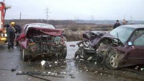 Angajat al MAI implicat într-un accident rutier