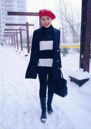 Stil de iarnă: Elena Gheorghe