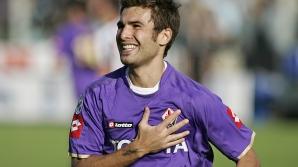 Adrian Mutu a jucat cinci ani la Fiorentina
