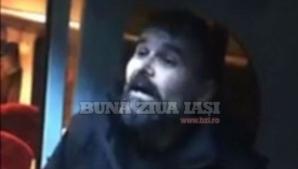 Imagini incredibile cu un preot într-un tren din gara Pașcani