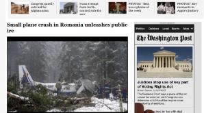 Ce scriu jurnaliştii americani despre accidentul aviatic