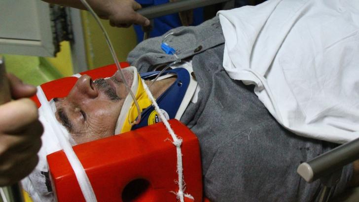 ACCIDENT SILVIU LUNG. Fostul fotbalist a fost condus, după accident, la Spitalul Judeţean de Urgenţă din Craiova. Foto: MEDIAFAX FOTO - Bogdan Dănescu