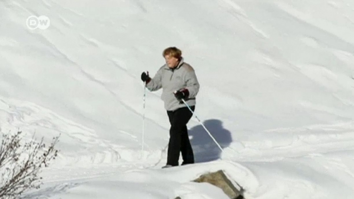 Angela Merkel s-a accidentat la schi