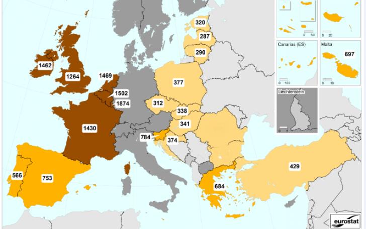 Harta salariilor minime