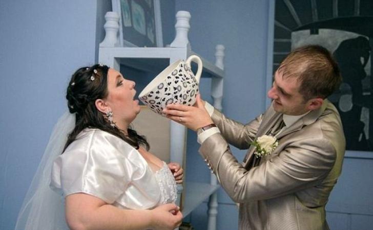 Poze de nuntă bizare în Rusia