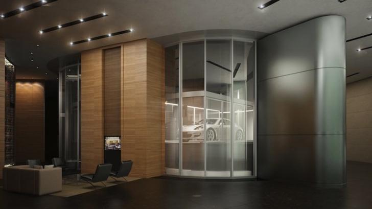 Cea mai nouă atracţie pentru miliardari: Turnul Porsche în care îţi poţi parca maşina în casă