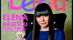 ELENA BASESCU şi fetiţa sa, Sofia Anais, pe coperta unei reviste