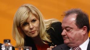 Elena UDrea şi Vasile Blaga, foşti colegi, actuali adversari politici