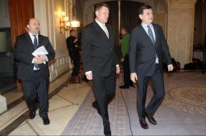 Discuţii IOHANNIS-ANTONESCU, la Senat / Foto: MEDIAFAX