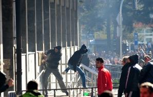 PROTESTE VIOLENTE la Sarajevo. FOTO: Mediafax FOTO