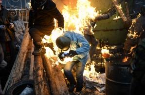 Tineri răniţi la Kiev, aduşi la Bucureşti pentru tratament