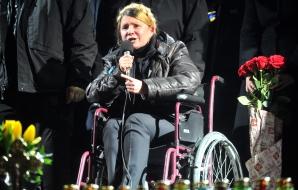 Iulia Timoşenko vrea ca protestatarii din Kiev să facă parte din guvern