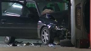 Accident bizar în parcarea unui mall