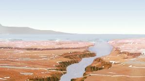 Imagine concept care arată cum a arătat în trecut planeta Marte