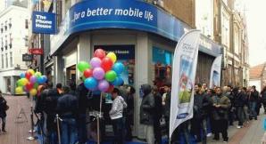 Cozi la lansarea Samsung Galaxy S4