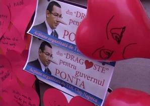 Panouri cu mesaje 'din dragoste pentru Guvernul Ponta', amplasate de TDL la Cluj-Napoca