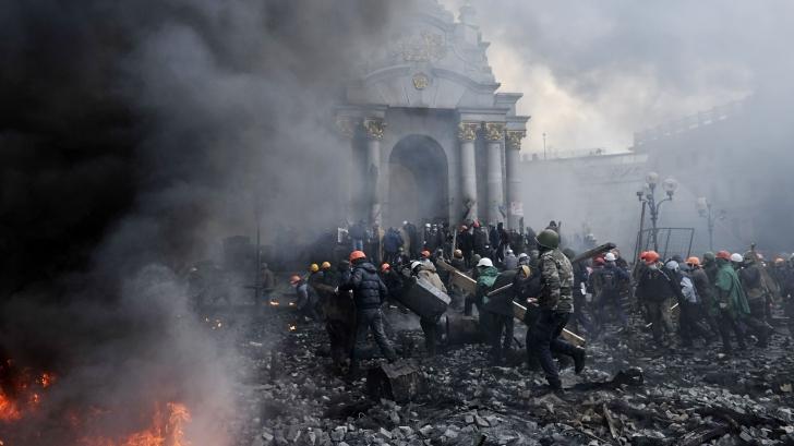 Violenţe la Kiev, în Ucraina