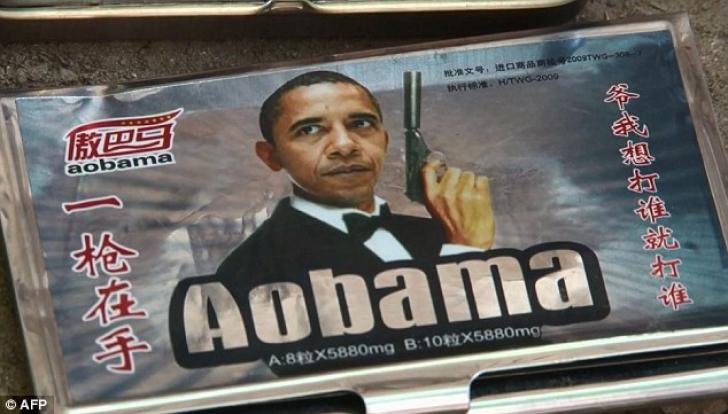 <p>Barack Obama, imaginea pastilelor Viagra de contrabandă</p>