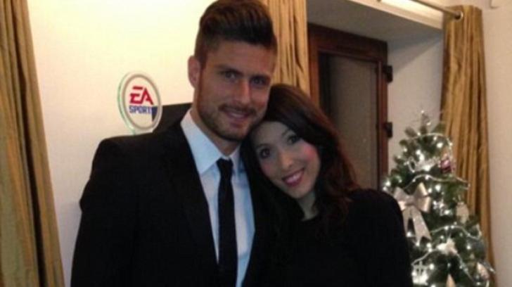 Olivier Giroud și soția sa