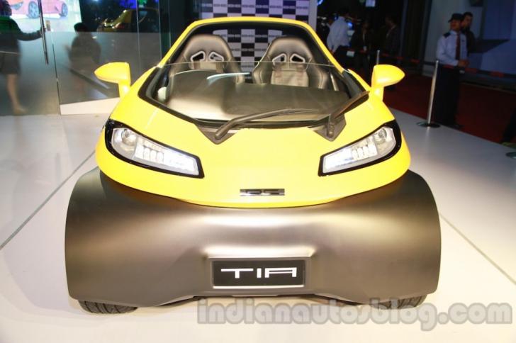 Tia, mașinuța SF care a uimit asistența la salonul Auto Expo New Delhi