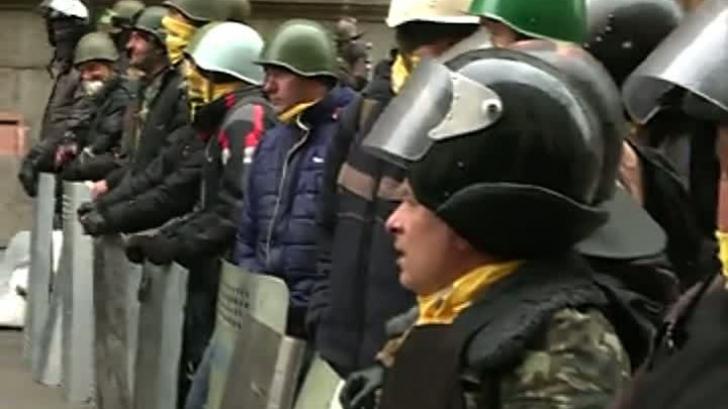 Echipa Realitatea TV a pătruns în palatul prezidențial din Kiev