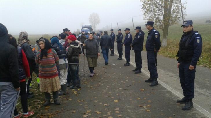 Peste 250 de persoane au participat la Păltiniş la un protest faţă de gazele de şist