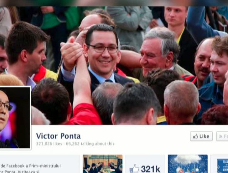 """""""Cel mai iubit"""" politician pe Facebook"""