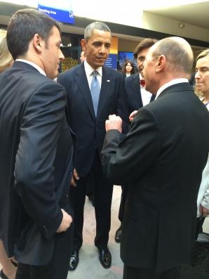 Traian Băsescu a discutat cu Barack Obama la Haga