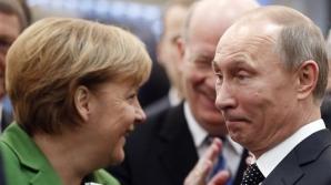 """Vladimir Putin vrea să continue dialogul """"preţios"""" cu Angela Merkel pe tema Ucrainei"""