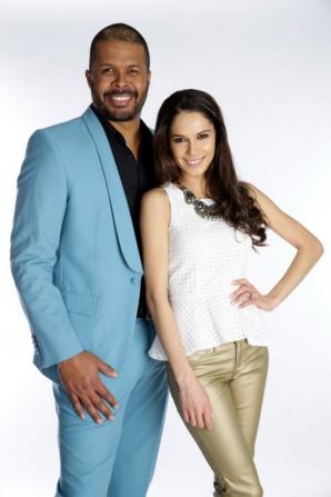 Cabral şi noua sa colegă de emisiune, Irina Fodor