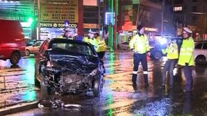 Accident cu trei maşini în Bucureşti