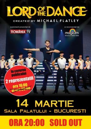 Spectacolul LORD OF THE DANCE de la Bucuresti - ora 20.00 este sold out