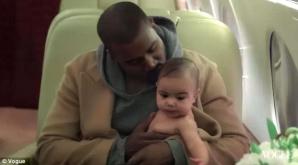 <p>Kim Kardashian şi Kanye West, pe coperta Vogue</p>