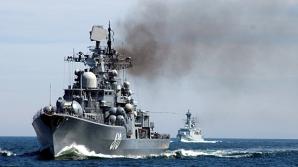 Distrugătorul Nastoychivy, din flota Rusiei la Marea Baltică