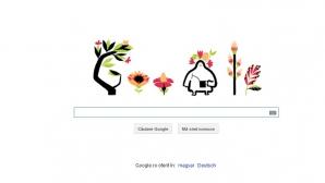 ECHINOCŢIUL DE PRIMĂVARĂ. Google marchează ECHINOCŢIUL DE PRIMĂVARĂ printr-un logo special