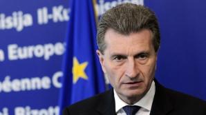 Oettinger: Ajutorul UE va întârzia şi Ucraina trebuie să se pregătească de vremuri grele