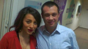 Impresarul Radu Muşetescu şi cântăreaţa Ruby