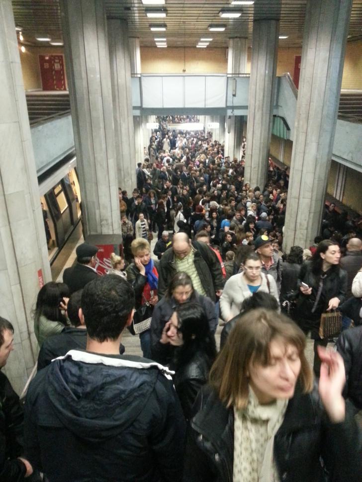 Circulația cu metroul, îngreunată din cauza unei defecțiuni