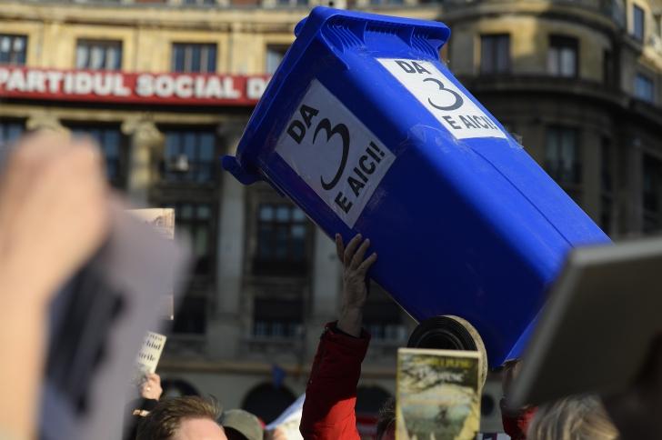 MITING PENTRU ANDREI PLEŞU. GDS: Protestăm categoric împotriva linşajului mediatic / Foto: MEDIAFAX