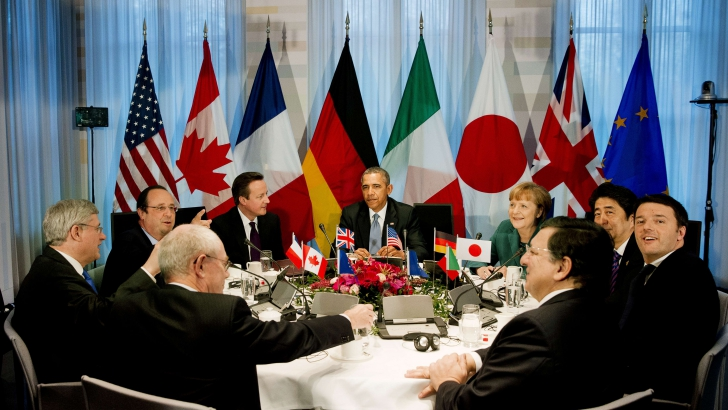 Liderii G7 s-au reunit anterior la Haga, unde Rusia a fost un subiect fierbinte